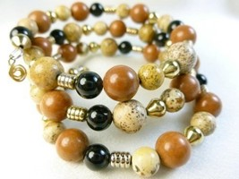Picture_jasper_gold_black_onyx_beaded_bracelet_memory_wire_wrap_1fb1e19b_thumb200