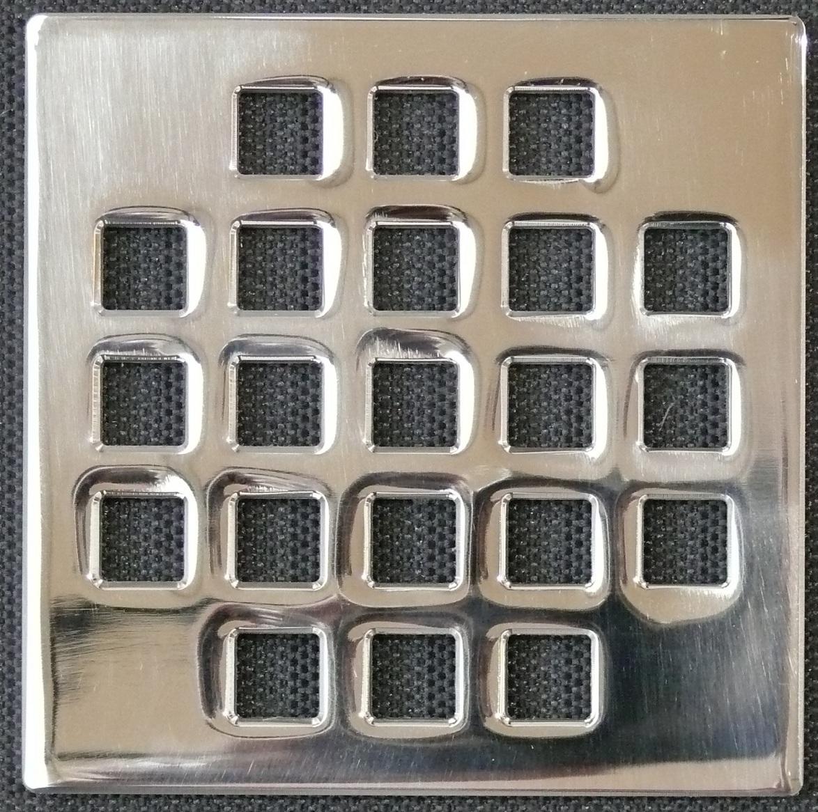Ebbe Unique Square Shower Drain Polished Chrome - Classic