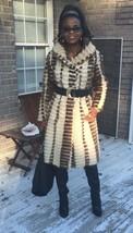 Designer Swing white sable brown multicolor Mink Fur Coat Jacket Stroller S-M 6 - $999.99