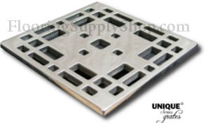 Ebbe Unique Square Shower Drain Polished Chrome - Craftsman