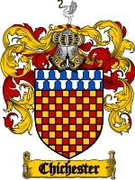 Primary image for Chichester Family Crest / Coat of Arms JPG or PDF Image Download
