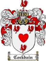Primary image for Cockbain Family Crest / Coat of Arms JPG or PDF Image Download