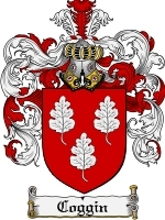 Primary image for Coggin Family Crest / Coat of Arms JPG or PDF Image Download