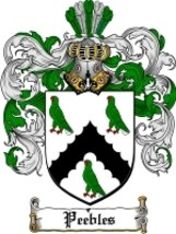 Peebles Family Crest / Coat of Arms JPG or PDF Image Download - $6.99