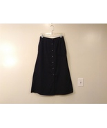 Karen Scott Black Long Skirt Front Buttons Elastic Waist, size 14 - $39.99
