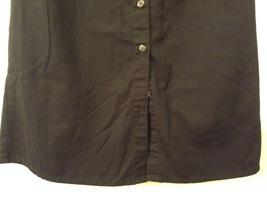 Karen Scott Black Long Skirt Front Buttons Elastic Waist, size 14 image 4