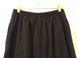 Karen Scott Black Long Skirt Front Buttons Elastic Waist, size 14 image 5