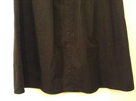 Karen Scott Black Long Skirt Front Buttons Elastic Waist, size 14 image 6