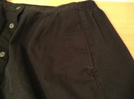 Karen Scott Black Long Skirt Front Buttons Elastic Waist, size 14 image 8