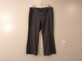 Lands' End Gray Mole Skin Feel Stretch Polyester Sport Pants, size L (14-16)
