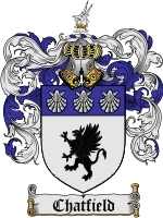 Primary image for Chatfield Family Crest / Coat of Arms JPG or PDF Image Download