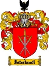 Interlandi Family Crest / Coat of Arms JPG or PDF Image Download - $6.99