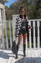 New Designer Unique Black white Mink Fur jacket coat bolero Stroller S-M 2-8 - $1,499.00