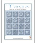Tagz Holiday Gift Tags cross stitch chart CM Designs - $13.50