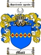 Mott Family Crest / Coat of Arms JPG or PDF Image Download - $6.99