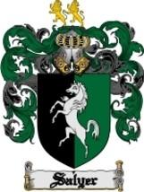Salyer Family Crest / Coat of Arms JPG or PDF Image Download - $6.99