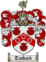 Tankard Family Crest / Coat of Arms JPG or PDF Image Download - $6.99