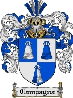 Primary image for Campagna Family Crest / Coat of Arms JPG or PDF Image Download