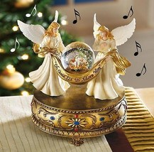Beautiful Christmas Angels and Baby Jesus Music... - $17.79