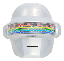 XCOSER Daft Punk Helmet Voice Control Version PVC White Full Head Helmet  - $156.67 CAD