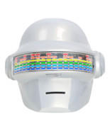 XCOSER Daft Punk Helmet Voice Control Version PVC White Full Head Helmet  - ₹8,545.06 INR