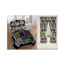 Star Wars Bedding Set Comforter Full Sheets Curtains Drapes Darth Vader ... - $108.36