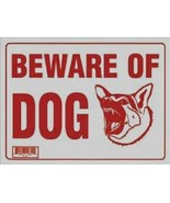 """5 Pcs 12 x16  Inch Red & White Flexible Plastic """" Beware of Dog  """" Sign - $12.99"""