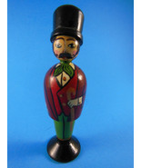 "Hand Painted Wooden Christmas Ornament Victorian Gentleman 4.5"" - $10.39"