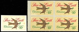 1552, Mint 10c Dove - VERY RARE DIE CUTTING SHIFTED BLOCK OF FOUR - Stua... - $95.00