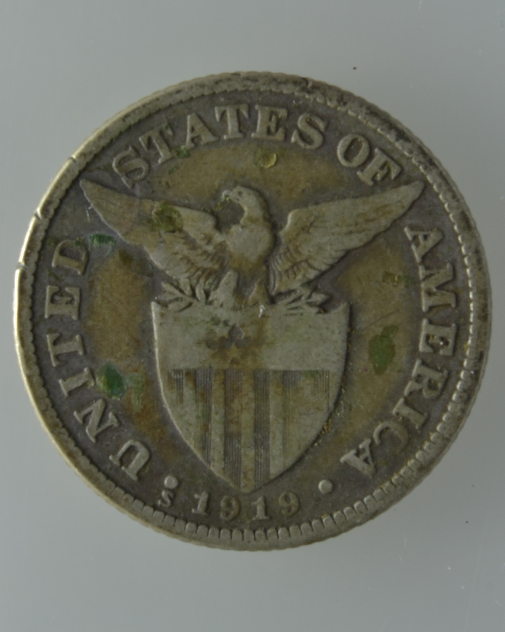 Coin Ph: U.S. Philippine 1919-S, 50 Centavos Silver Coin- (2 Silver