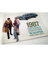 1967 Chevrolet Chevy Car Sales Brochure Caprice Wagon Chevelle Dealershi... - $32.62