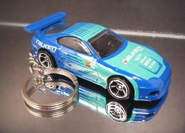 Blue 1992-2002 Toyota Supra Diecast Custom 3D Key Chain Ring Fast Furious - $11.69