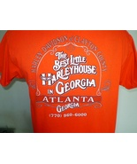 Harley-Davidson Orange T-Shirt Large Atlanta, Ga - $12.00