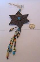Cowboy Christmas Shooting Star Beaded Ornament - $2.99