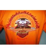 Harley-Davidson Orange T-Shirt Large Las Vegas, Nevada - $20.00