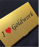 I Heart Goldwork needle bead case Accoutrement ... - $14.40