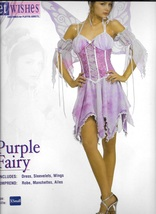 SEXY PURPLE FAIRY WITH WINGS SIZE EXTRA SMALL - $45.00