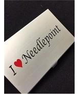 I Heart Needlepoint needle bead case Accoutreme... - $14.40