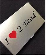 I Heart 2 Bead needle bead case Accoutrement De... - $14.40
