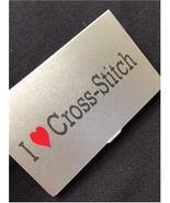 I Heart Cross Stitch needle bead case Accoutrem... - $14.40