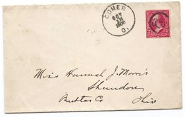 1900 Gomer, OH Discontinued/Defunct Post Office (DPO) Postal Cover - $7.99
