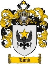 Lund Family Crest / Coat of Arms JPG or PDF Image Download - $6.99