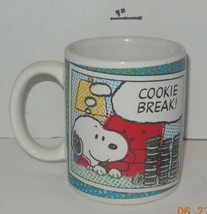 "Coffee Mug Cup The Peanuts Snoopy ""Cookie Break!"" Ceramic - $9.50"