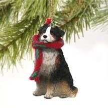 AUSTRALIAN SHEPHERD DOG DOCKED CHRISTMAS ORNAMENT HOLIDAY Figurine Scarf... - $9.50