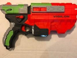 Toy Gun Soft Dart Nerf Vortex Vigilon Disc Blaster Hasbro 2010 - $19.80