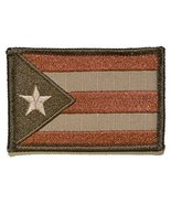 Puerto Rico State Flag - 3x2 Hat Patch - Coyote - $5.87