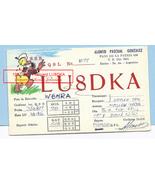 1967 Disney Donald Duck Cartoon Art Vintage Postcard Argentina QSL Alons... - $59.99
