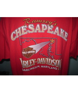 Harley-Davidson Red T-Shirt 2XL Darlington, Maryland - $25.00