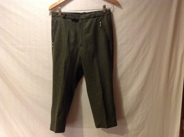 Henry Ours Womens Olive Green Wool Capris, Size 38