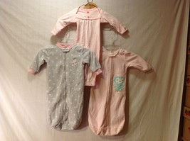 Carter's Baby Sleepers one piece Set of 3, Size Newborn